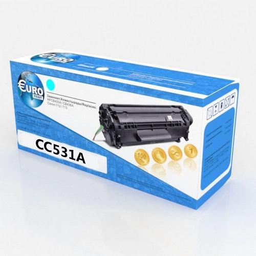 Картридж HP CC531A/Canon 718 (№304A) Cyan Euro Print Premium