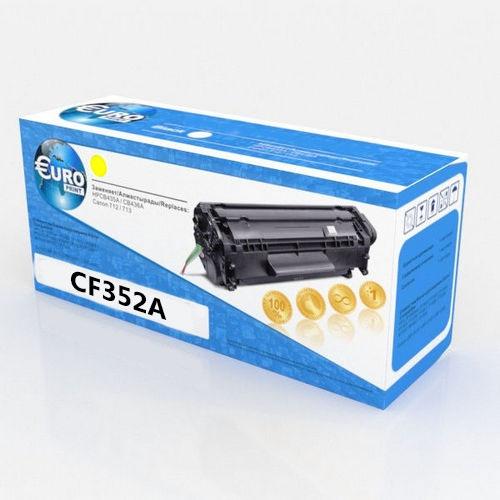 Картридж HP CF352A (130A) Yellow Euro Print