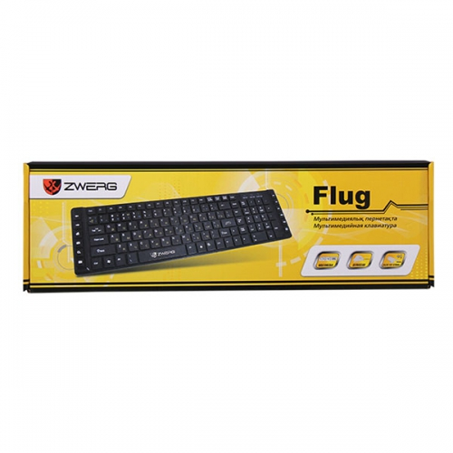 Клавиатура проводная мультимедийная Flug Zwerg